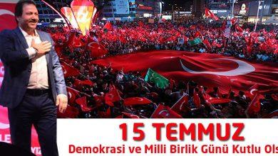 Photo of Demokrasi ve Milli Birlik Günü kutlu olsun!