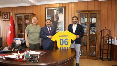 Photo of Başkanımız Fatih Mert ve Yönetim Kurulumuz, Etimesgut Belediye Başkanı Sayın Enver Demirel'e iade-i ziyarette bulundular.