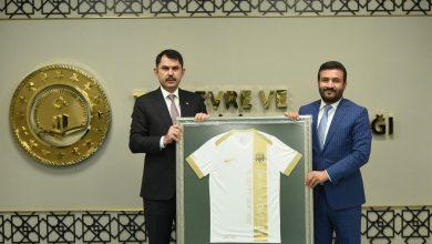 Photo of Başkanımız sayın Fatih Mert, Çevre ve Şehircilik Bakanımız Sayın Murat Kurum'u Makamında Ziyaret Etti